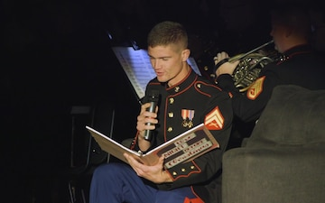 *B-Roll* III MEF Band performs Christmas concert