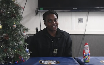 USS Germantown (LSD 42) OS3 Sejour sends a Holiday Message