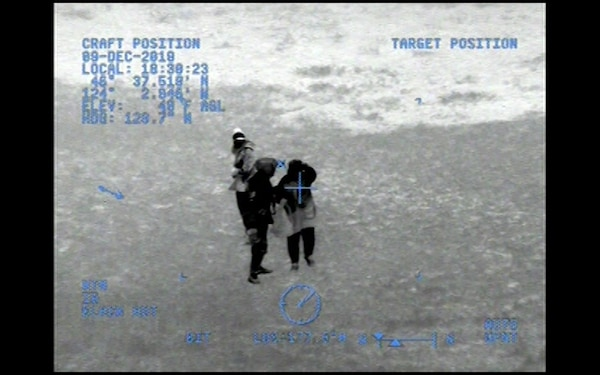 VIDEO AVAILABLE: Coast Guard rescues 2 stranded hikers from Leadbetter Point