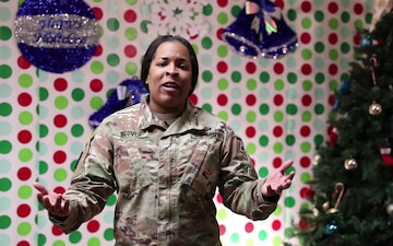Maj. India Stover wishes her family and friends a happy holiday