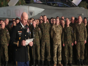 Polish military hosts Christmas party with NATO allies