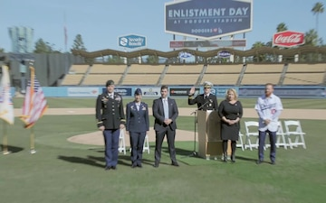 "B-Roll: LA Dodgers host Los Angeles ""Enlistment Ceremony"""