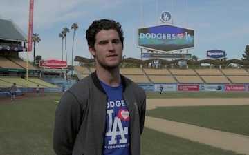 "A-Roll: LA Dodgers host Los Angeles ""Enlistment Ceremony"""