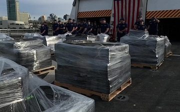 Coast Guard offloads $312 mil worth of cocaine