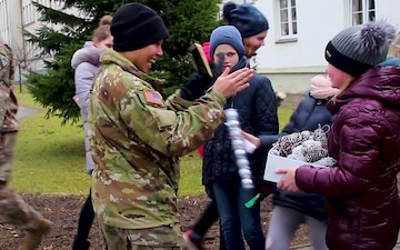 1-9 CAV Soldiers Visit Local Lithuanian Orphanage