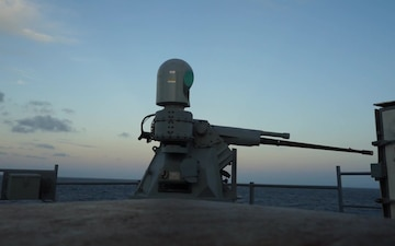 USS Emory S. Land's MK 38 Machine Gun System Packs a Punch