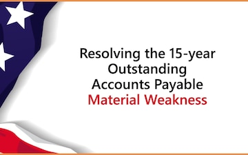 DFAS downgrades Accounts Payable 15-year material weakness to control deficiency