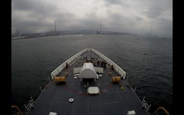 U.S. Coast Guard Cutter Bertholf (WMSL 750) arrives in Hong Kong