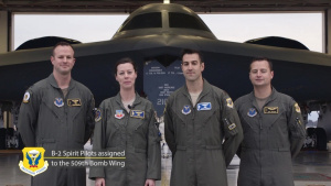 B-2 Spirit Pilots 2020 Tournament of Roses Shout-out