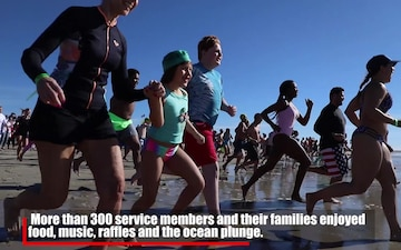 Camp Pendleton patrons dive into 2020 during 5th annual Polar Bear Plunge