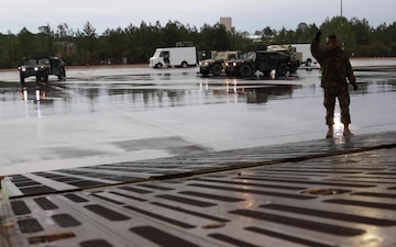 1st Brigade Combat Team, 82nd Airborne Division equipment loaded for U.S. Immediate Response Force