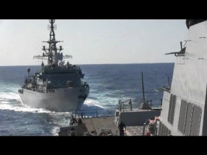 Interaction Between USS Farragut and Russian Navy Ship