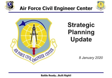 08 Jan 2020 AFCEC Director delivers a Strategic Planning Update