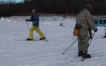 Cold-Weather Operations Course Class 20-02 students complete skiing familiarization at Fort McCoy