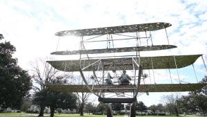 Maxwell AFB Wright Flyer Static Display B-roll
