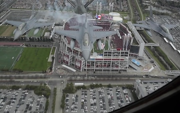Edwards Air Force Base 418th and 416th Squadron Flies Over Levi Stadium