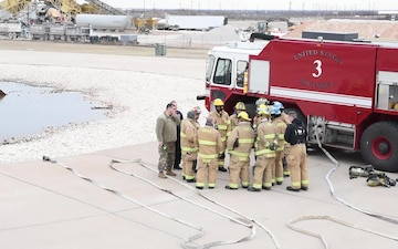 Dyess Firefighters Complete Live Fire Exercise