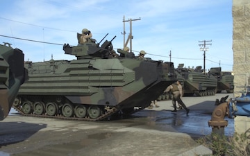 Iron Fist 2020: US Marines and Japan Ground Self-Defense Force soldiers train with assault amphibious vehicles