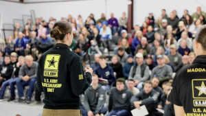 U.S. Army Marksmanship Unit Soldier hold athlete clinic for junior competitors