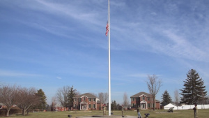 DLA Distribution flies flag in honor of historic first sergeant