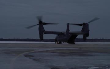 CV-22 Osprey Take Offs at Emerald Warrior 20-1
