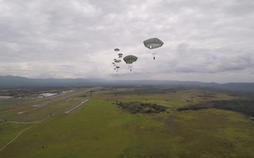 First person view of an Airborne Operation over Colombia