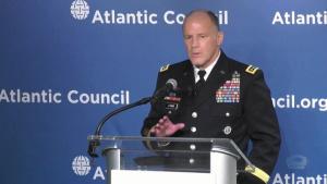 Transcom Commander Gives Keynote Speech