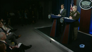 Esper, Milley Conduct Pentagon News Conference