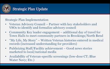 Presentation given to Roseburg VA Health Care System's Veteran Service Organization and Congressional Delegation Partners