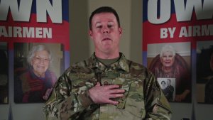 Chief Master Sgt. Charles Hoffman Air Force Assistance Fund message