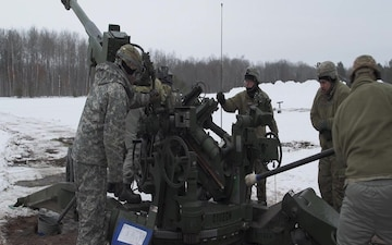 Wisconsin National Guard field artillery at Northern Strike 20-2