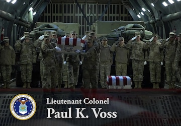 Air Force Lt. Col. Paul K. Voss and Air Force Capt. Ryan S. Phaneuf - Dignified Transfer