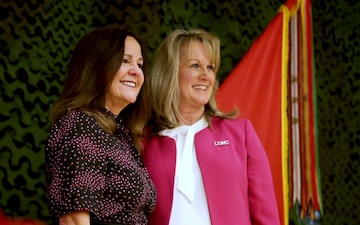 Second Lady of the United States Karen Pence meets with military spouses at Camp Lejeune