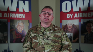 Chief Master Sgt. David Wade Air Force Assistance Fund message