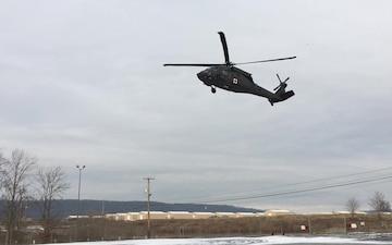 Black Hawk landing at Fort Indiantown Gap