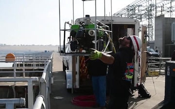 Under Water inspection with Remotely operated Vehicle ROV