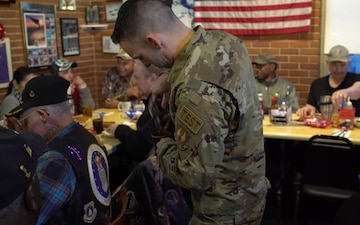 412th Test Wing Commander Visits Veterans During Coffee-4-Vets