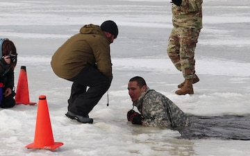 CWOC Class 20-03 student completes cold-water immersion training at Fort McCoy