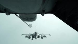908th EARS refuels Armée de l'Air Rafales (B-Roll)