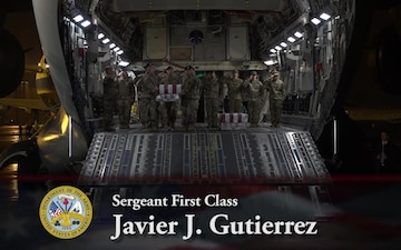 Sgt. 1st Class Javier J. Gutierrez and Sgt. 1st Class Antonio R. Rodriguez - Dignified Transfer