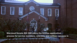 Senate Bill 280; using out of state professional licenses in Md
