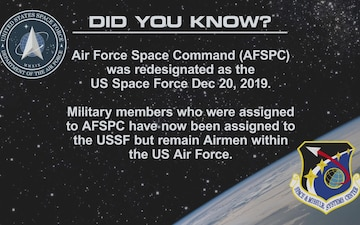 "U.S. Space Force ""Did You Know?"""