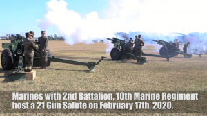 21-Gun Salute in honor of President's Day