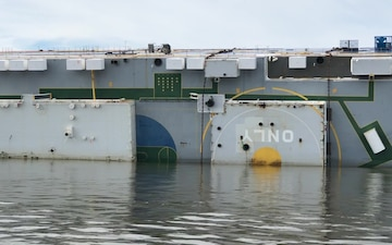 Golden Ray grounded in St. Simons Sound