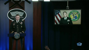 Centcom Spokesman Briefs Reporters on Seizures of Iranian-Produced Weapons