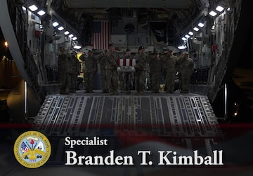 Spc. Branden T. Kimball - Dignified Transfer