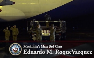 Petty Officer 3rd Class Eduardo M. RoqueVazquez - Dignified Transfer
