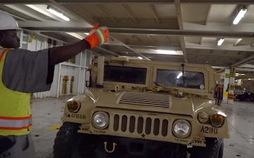 DEFENDER-Europe 20 // Port of Beaumont Loading Humvees onto the MV Resolve