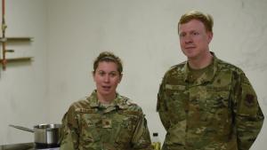2020 Cooking Competition with Maj. Samantha Warren & Chaplain Maj. Matthew Ellis