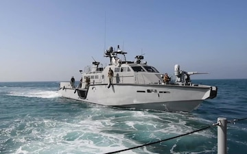 Commander, Task Force 56 Conducts Training Exercises with Mark VI Patrol Boats